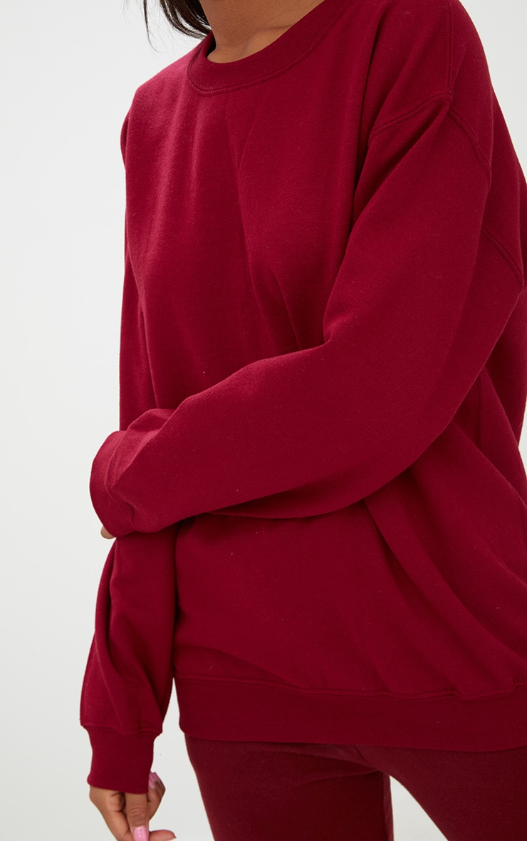 Burgundy Ultimate Oversized Sweater 5
