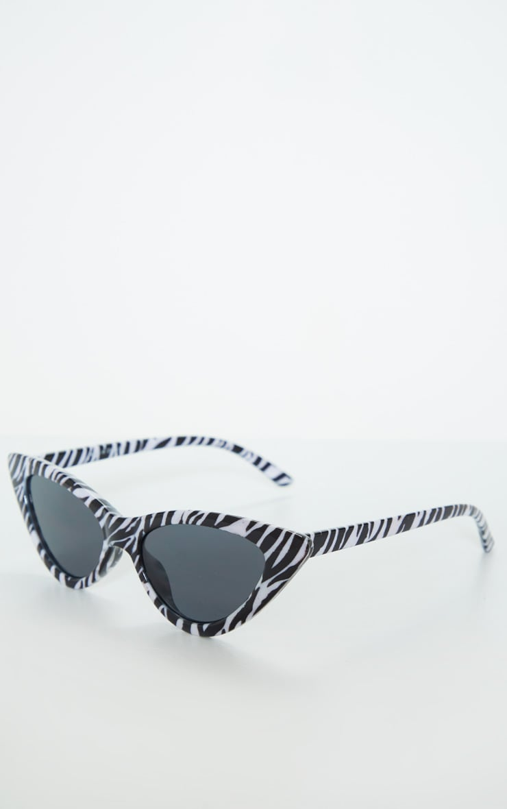 Zebra Cat Eye Sunglasses 2