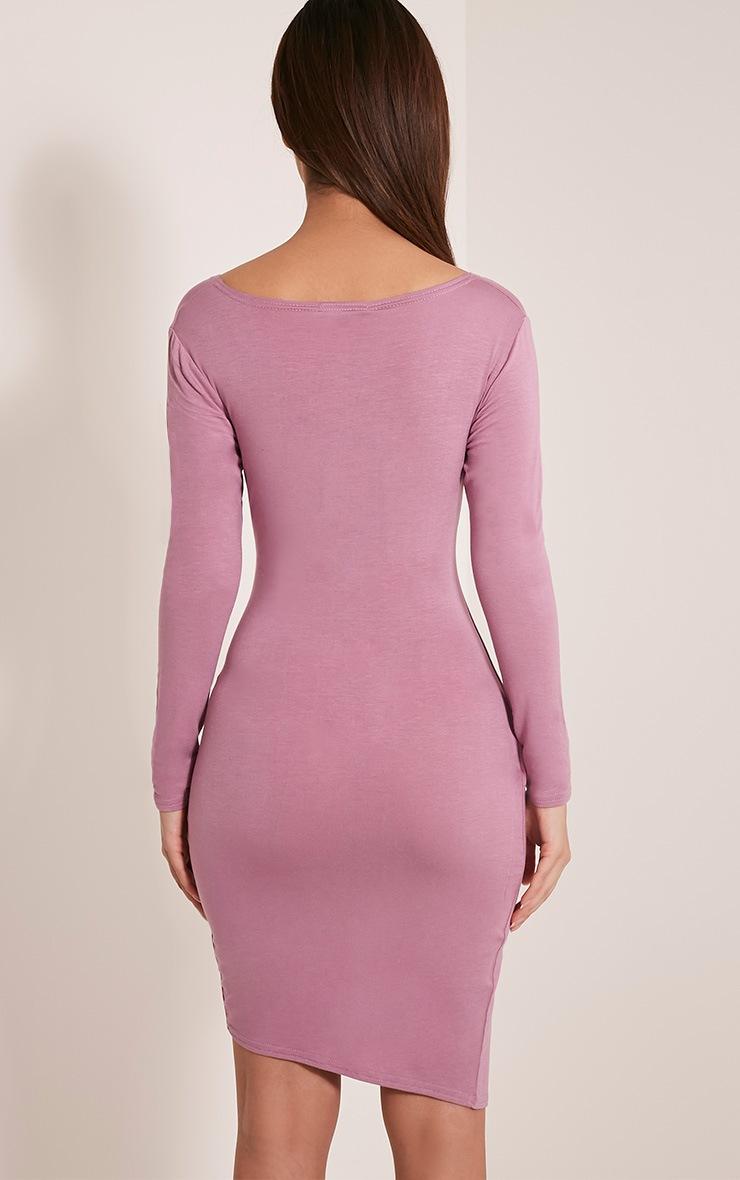 Kendi Mauve Wrap Mini Dress 2