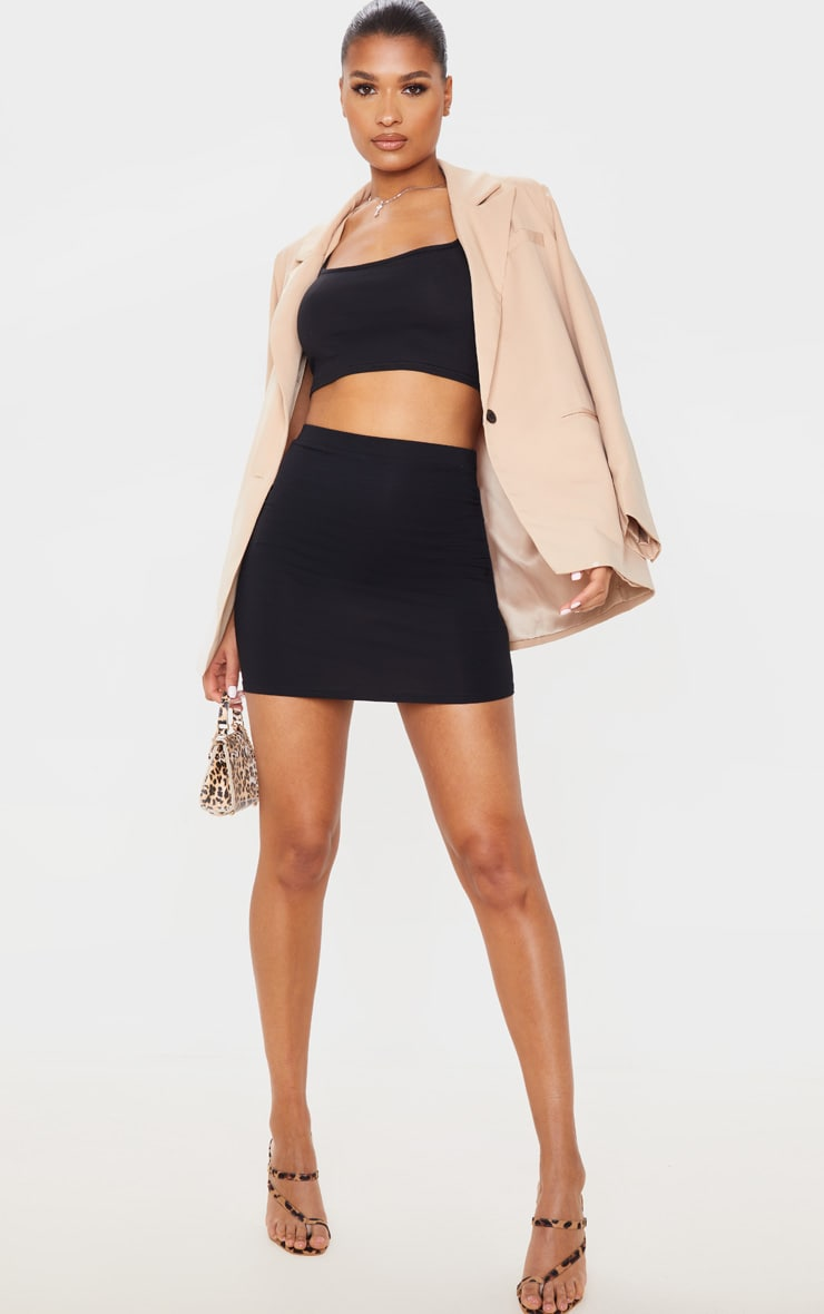 Black Ultimate Jersey Mini Skirt 1