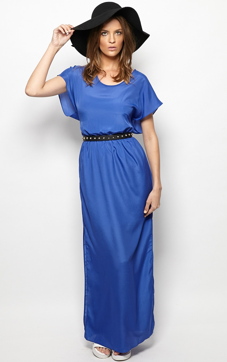 Faith Cobalt Loose Fit Maxi Dress  1
