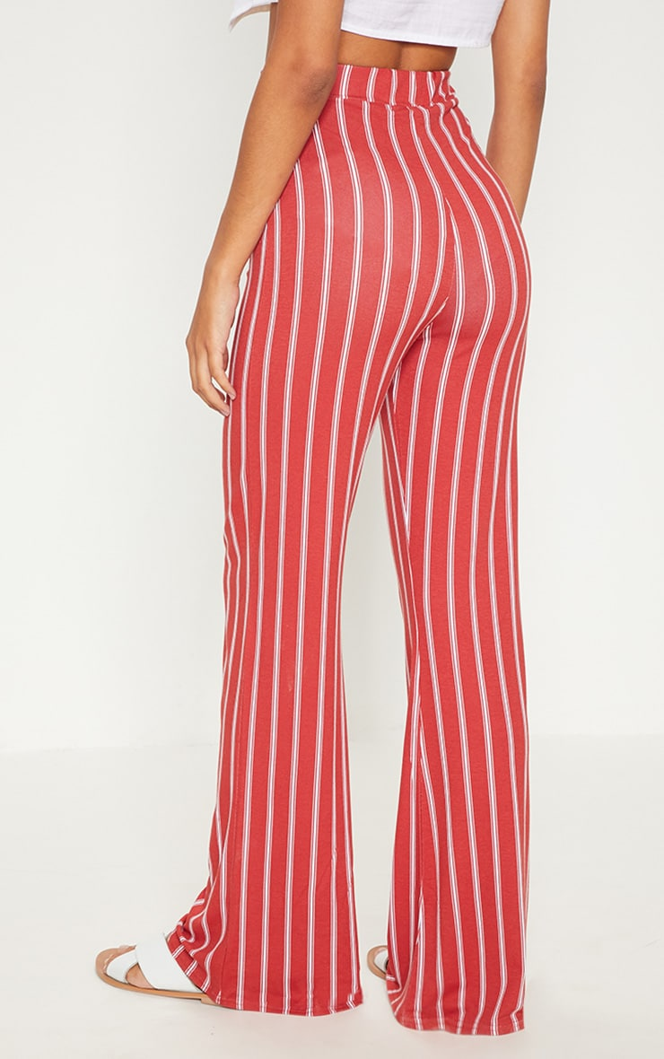 Rust Jersey Printed Wide Leg Trouser  4
