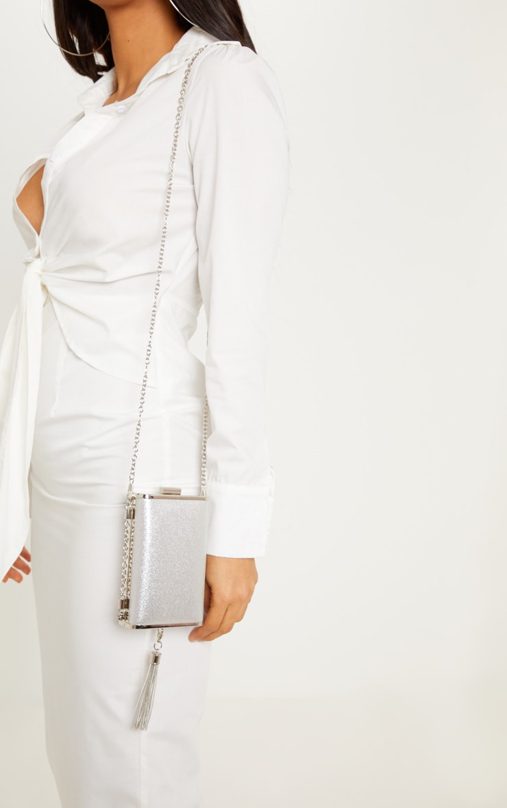 Silver Tassel Box Bag