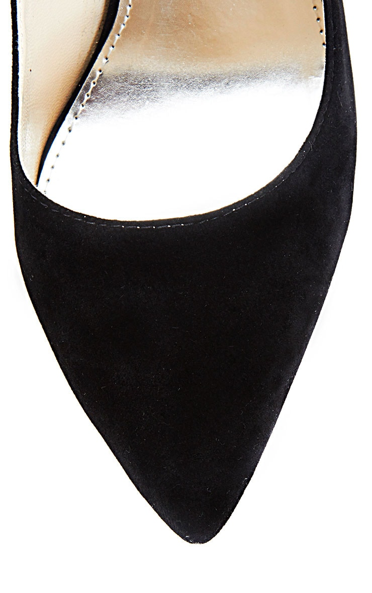 Sophie Black Suede Heeled Stiletto  3