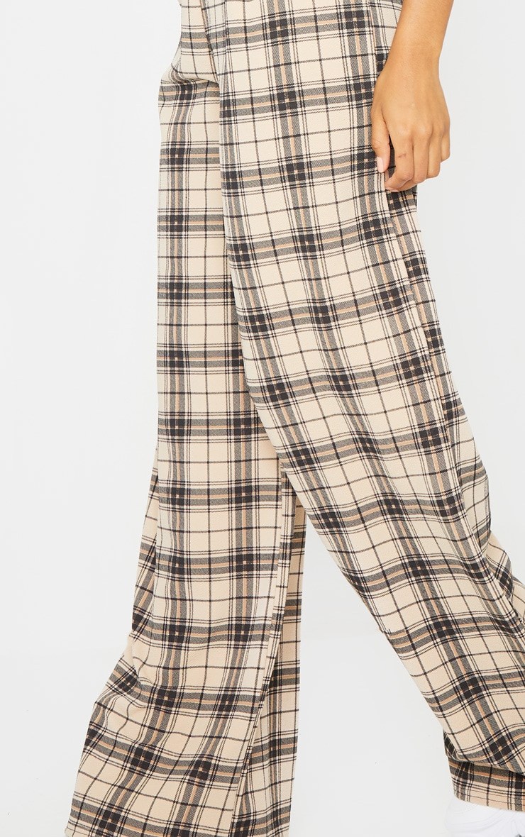 Stone Check Belted Wide Leg Pants 4