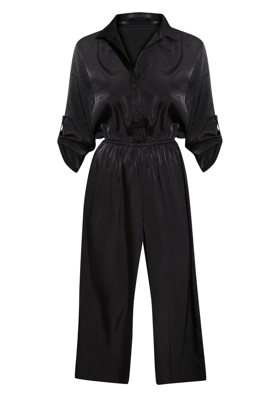 Katriana Black Culotte Jumpsuit 3