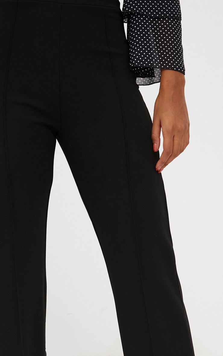 Black Front Seam Wide Leg Trousers 5