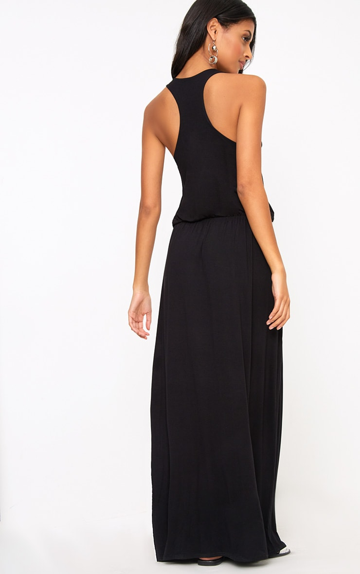 Black Bagged Over Maxi Dress 2