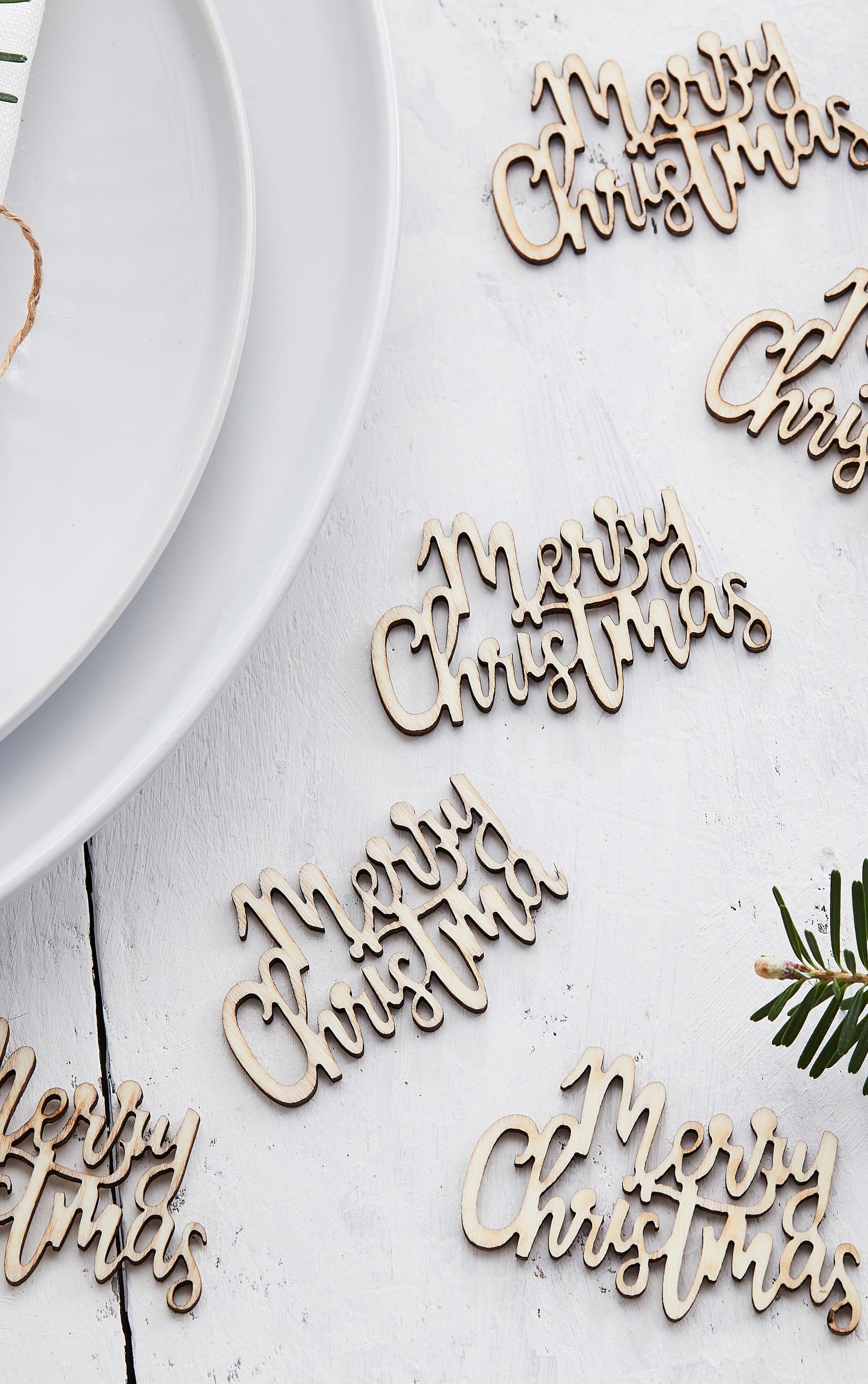 Ginger Ray - Confettis en bois Merry Christmas 1