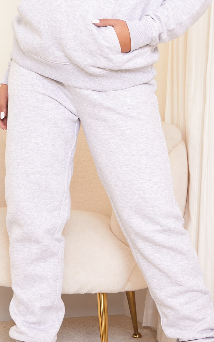 PRETTYLITTLETHING Maternity Grey Embroidered Joggers 4