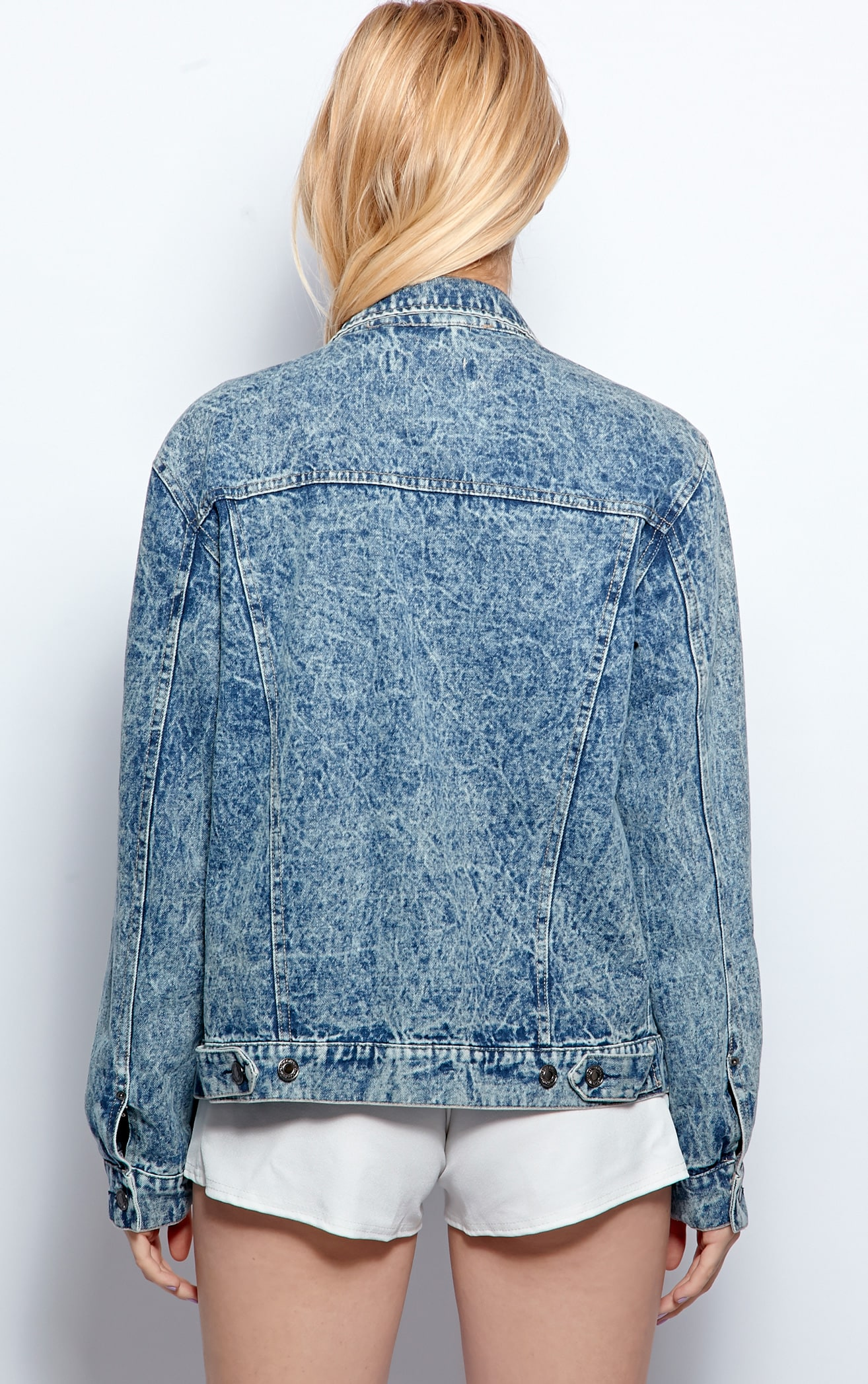 Alisia Blue Acid Wash Denim Jacket 2