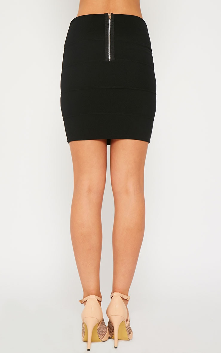 Anel Black Bandage Mini Skirt  4