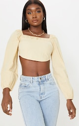 Tall Stone Corset Detail Long Sleeve Cropped Blouse 1