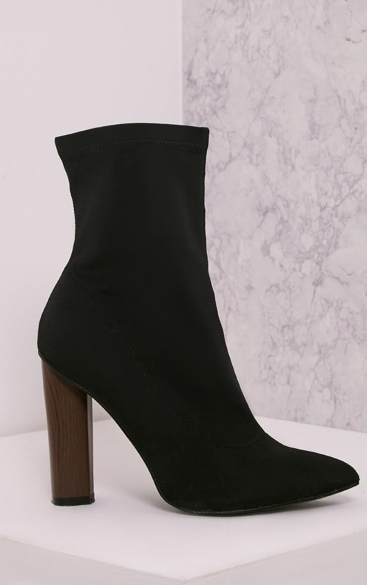 Celisa Black Lycra Ankle Boots 3