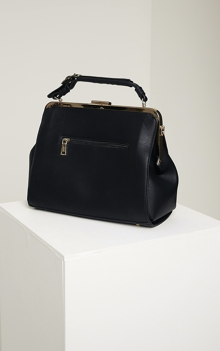 Jeri Black Double Strap Day Bag 5