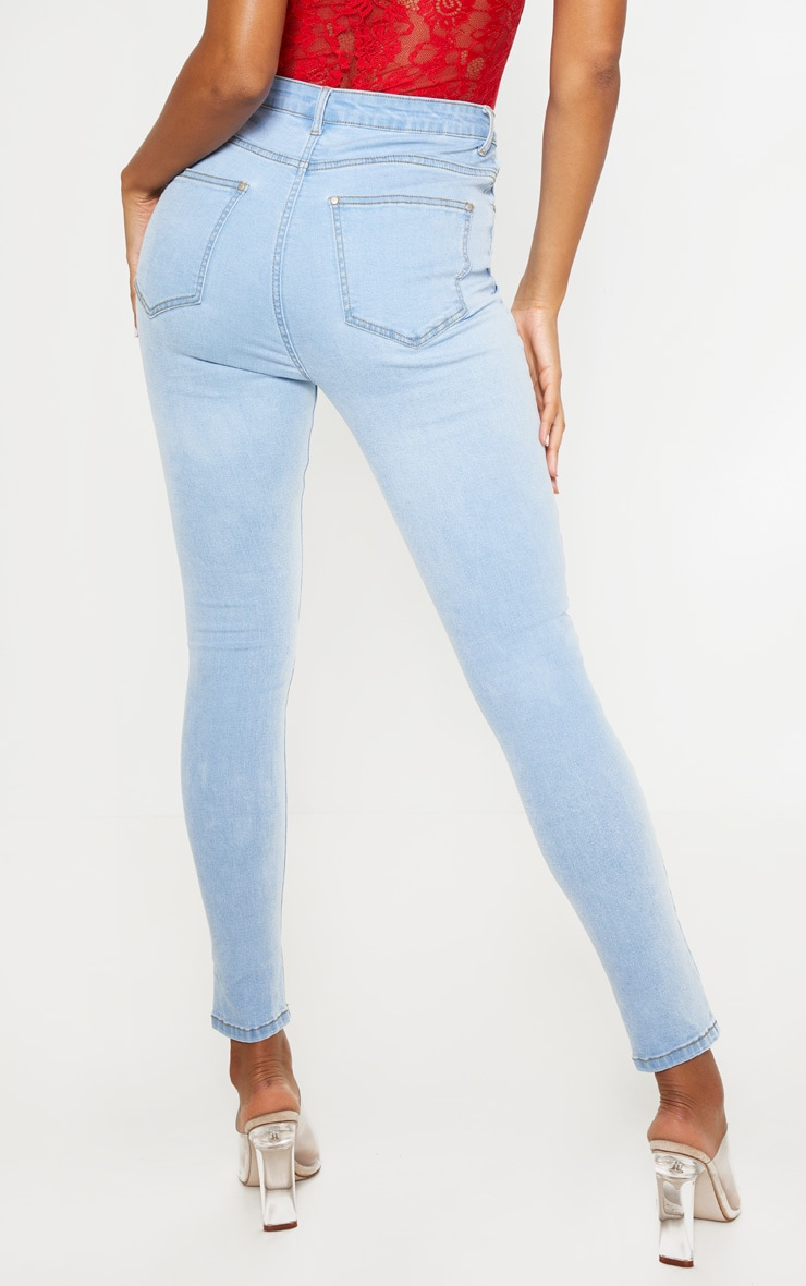 Light Wash High Waist 5 Pocket Skinny Jean  4