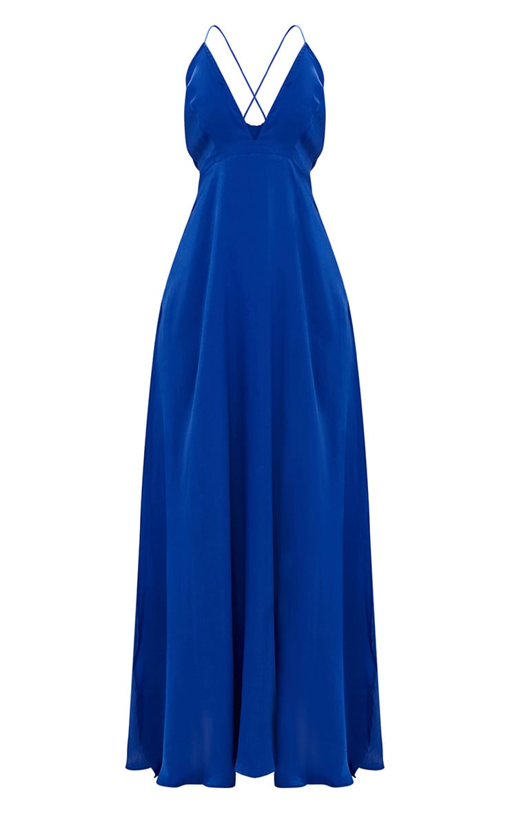 Cobalt Extreme Split Strappy Back Maxi Dress 3