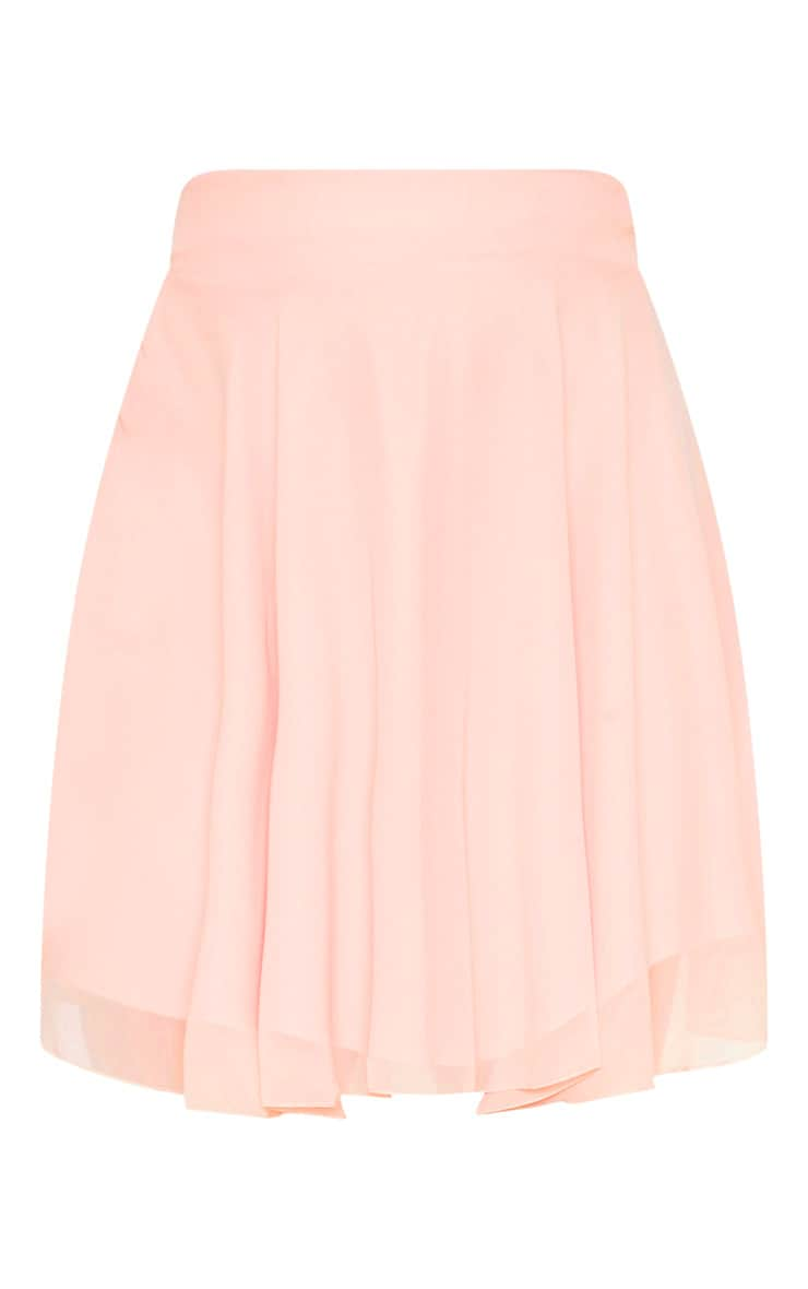 Dusty Pink Lightweight Woven Skater Skirt 3