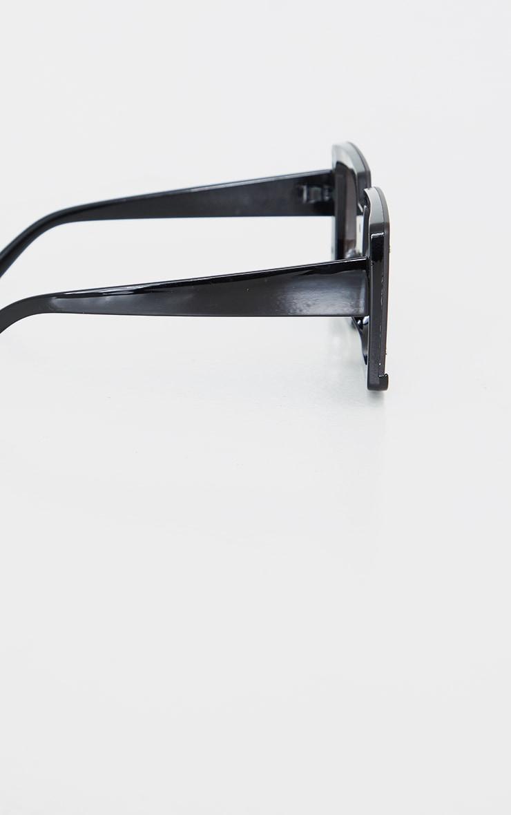 Black Revo Effect Oversized Square Frameless Sunglasses 3