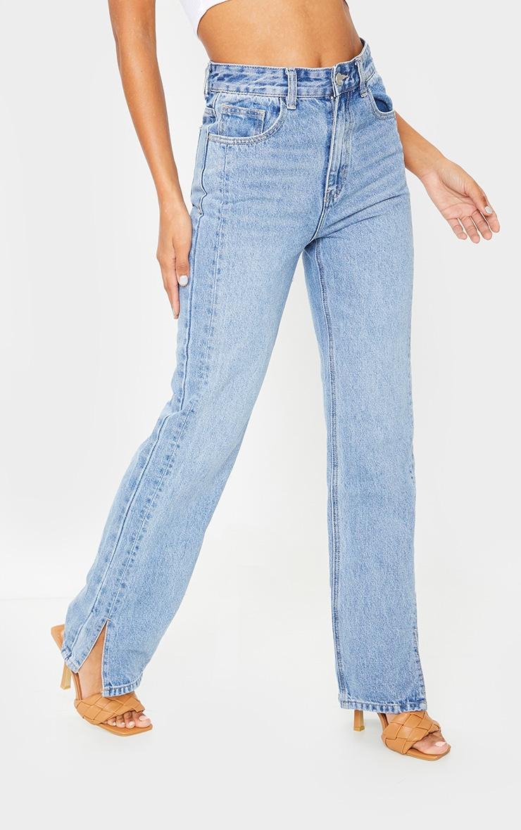 Vintage Wash Double Side Seam Split Jeans 2