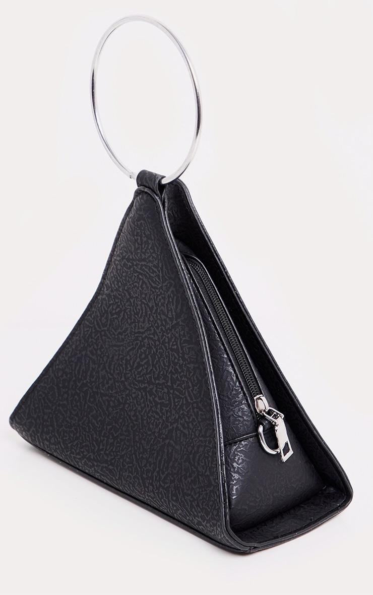 Black Pyramid Metal Handle Grab Bag 2