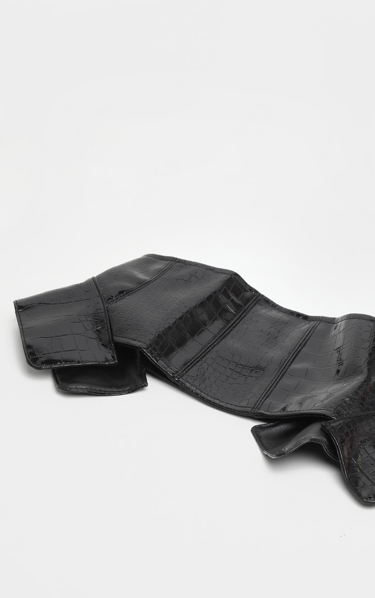 Black Vinyl Snake Corset Belt  2