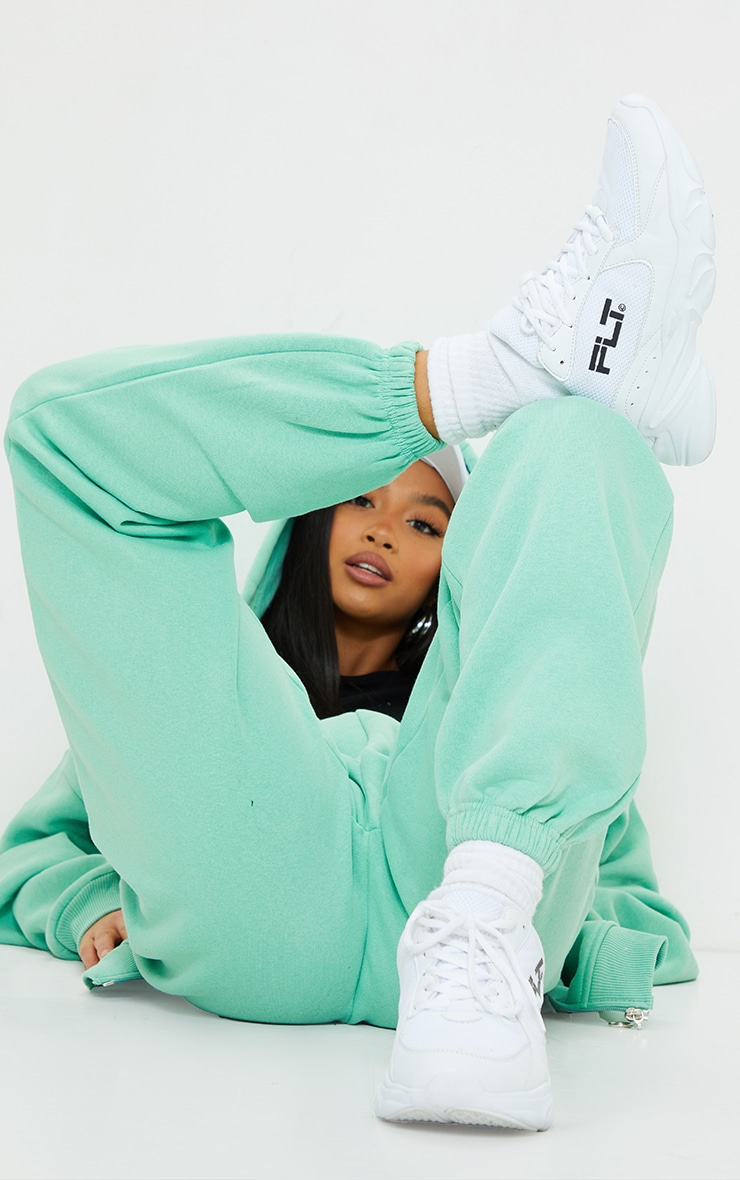 Petite Green Pocket Thigh Casual Joggers 4