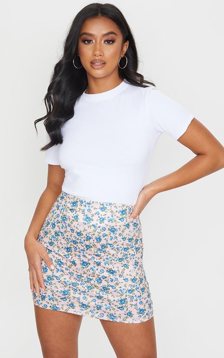 Petite Stone Ditsy Floral Mini Skirt 4