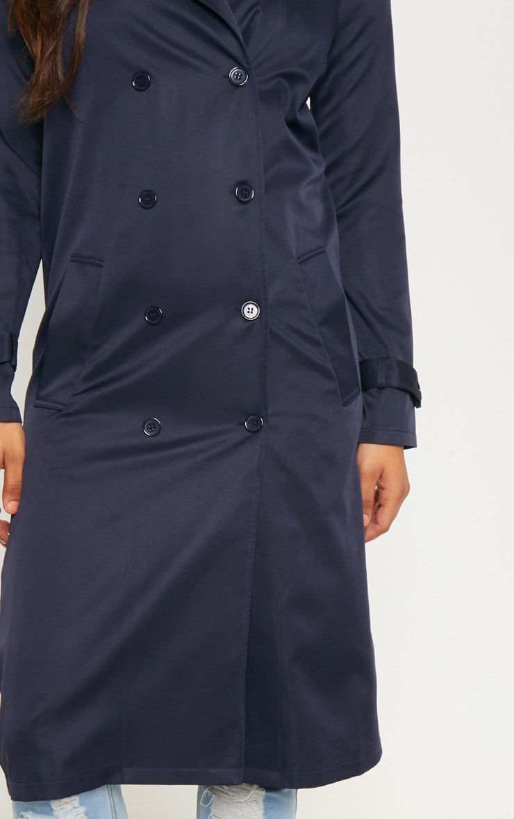 Tall Navy Oversized Longline Coat 5