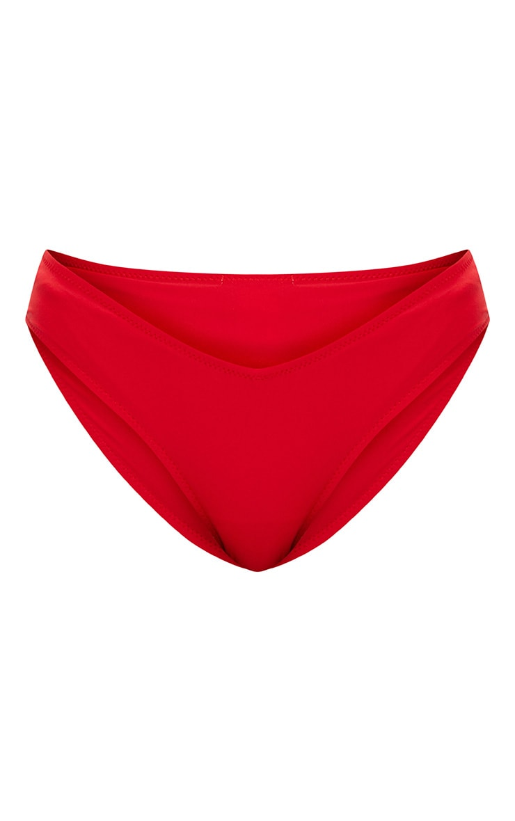 Red V Front Bikini Bottoms 3