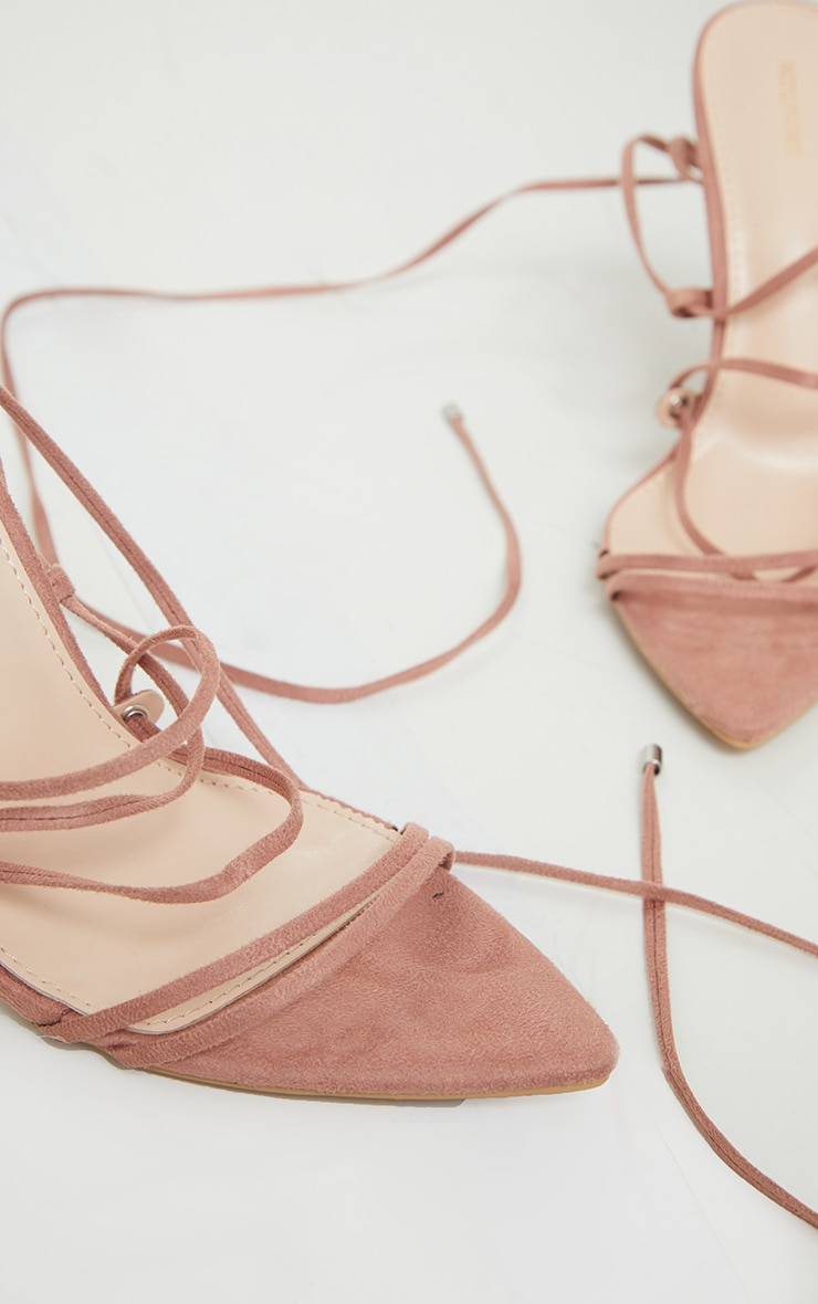 Rose Strappy Gladiator Point Toe Heels 3