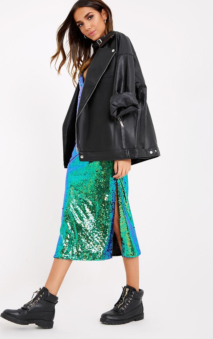 Ester Green Strappy Sequin Midi Dress  3