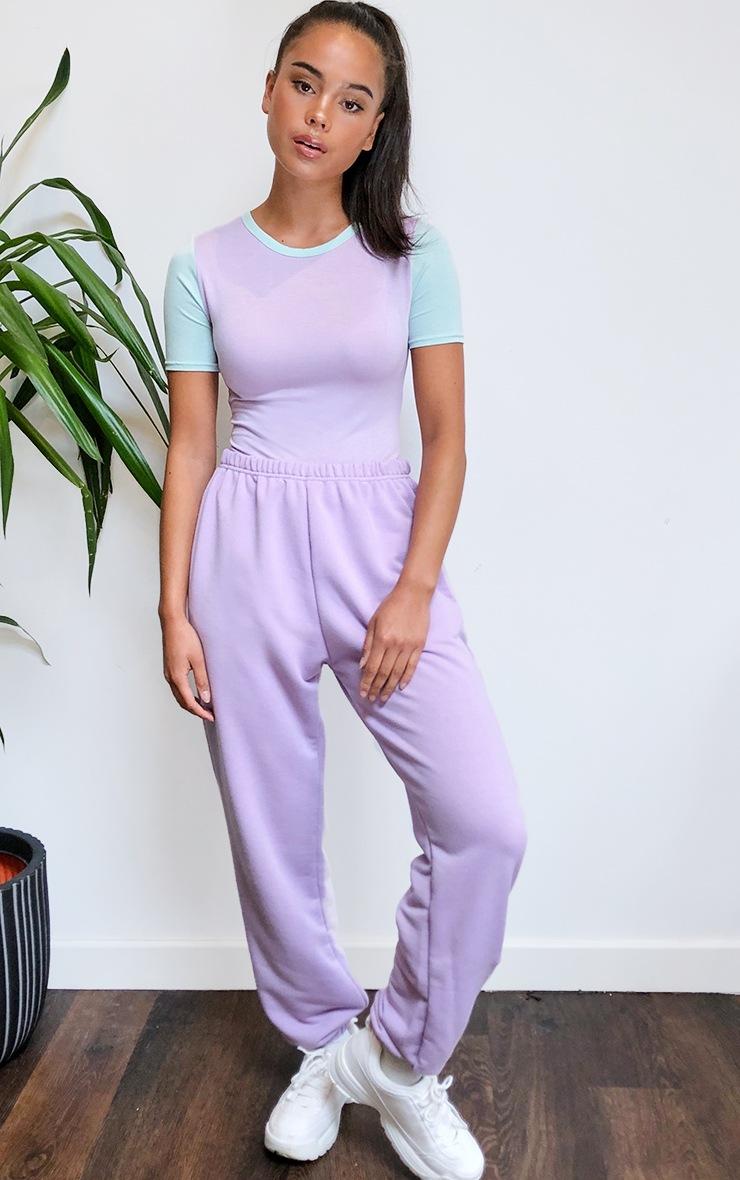Lilac Jersey Contrast Bodysuit 3