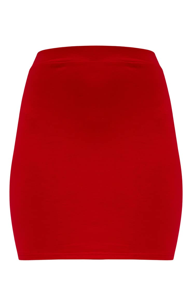 Red Ultimate Jersey Mini Skirt 3