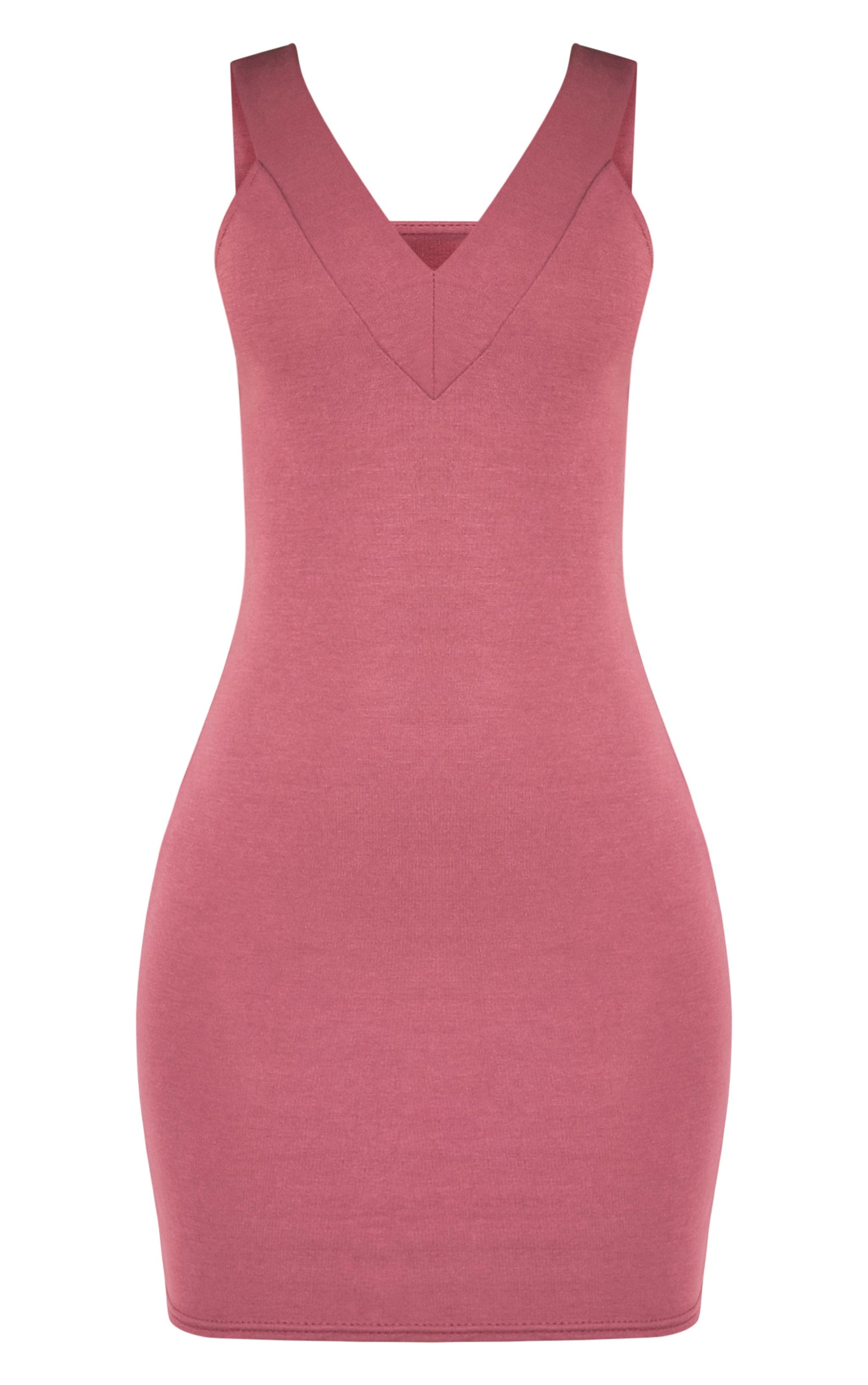 Shayla Rose Ponte Plunge Bodycon Dress 3