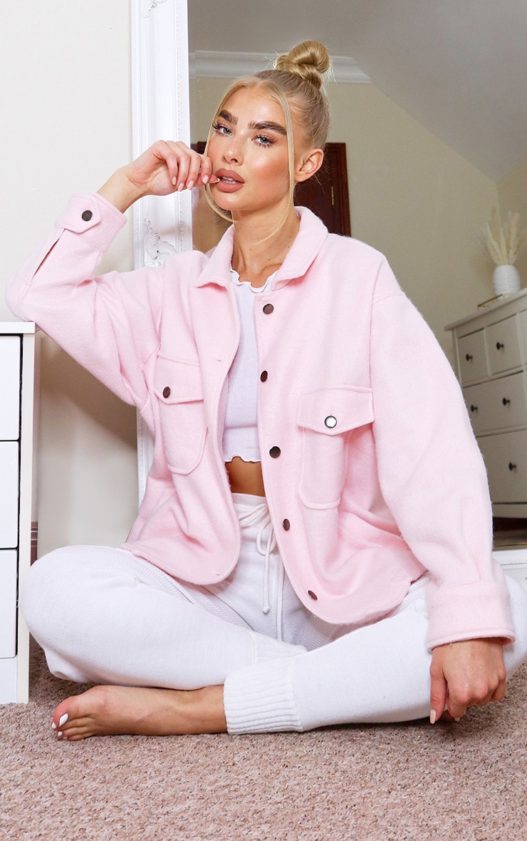 Pink Pocket Front Shacket 3