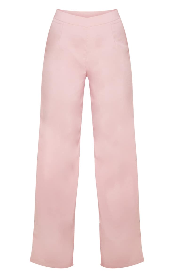 Dusty Rose Wide Leg Suit Pants 3