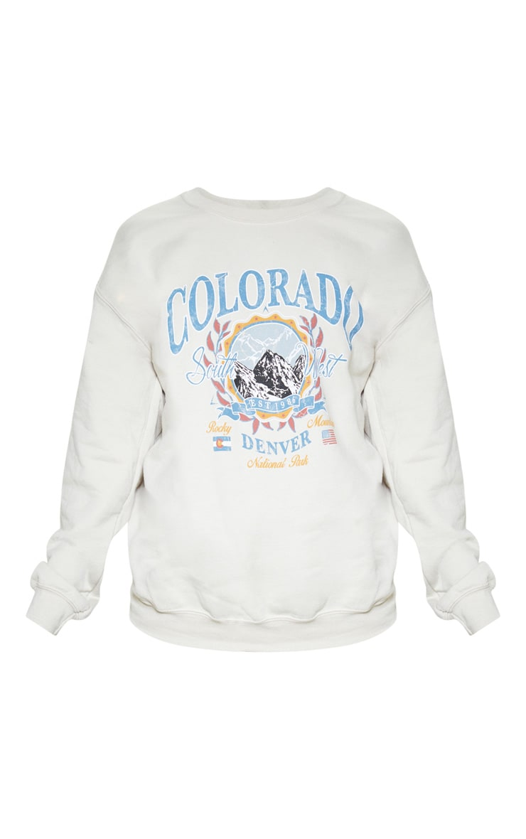 Pull fauve à slogan Colorado 3