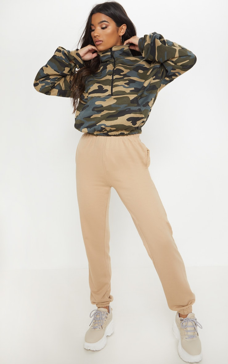 Green Camo Oversized Zip Front Sweater 4