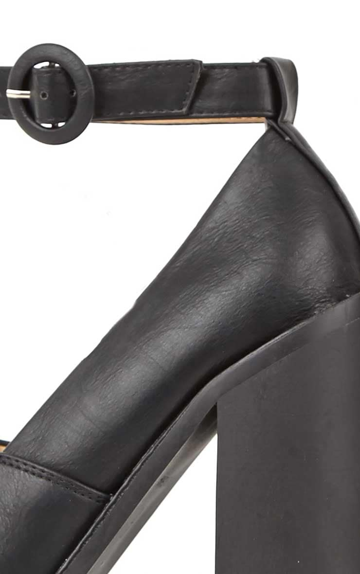 Franceska Black Extreme Cleated Heels 4
