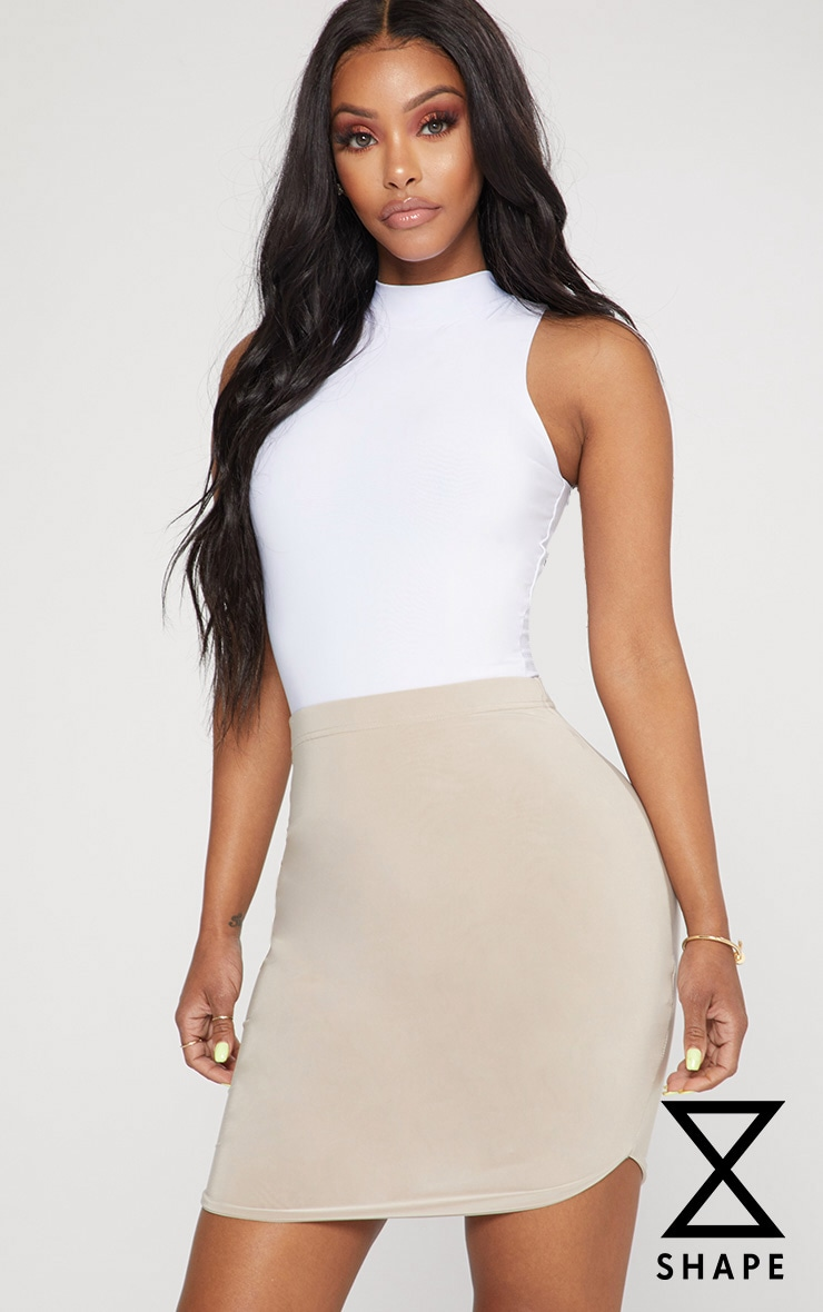Shape White Slinky Bodysuit
