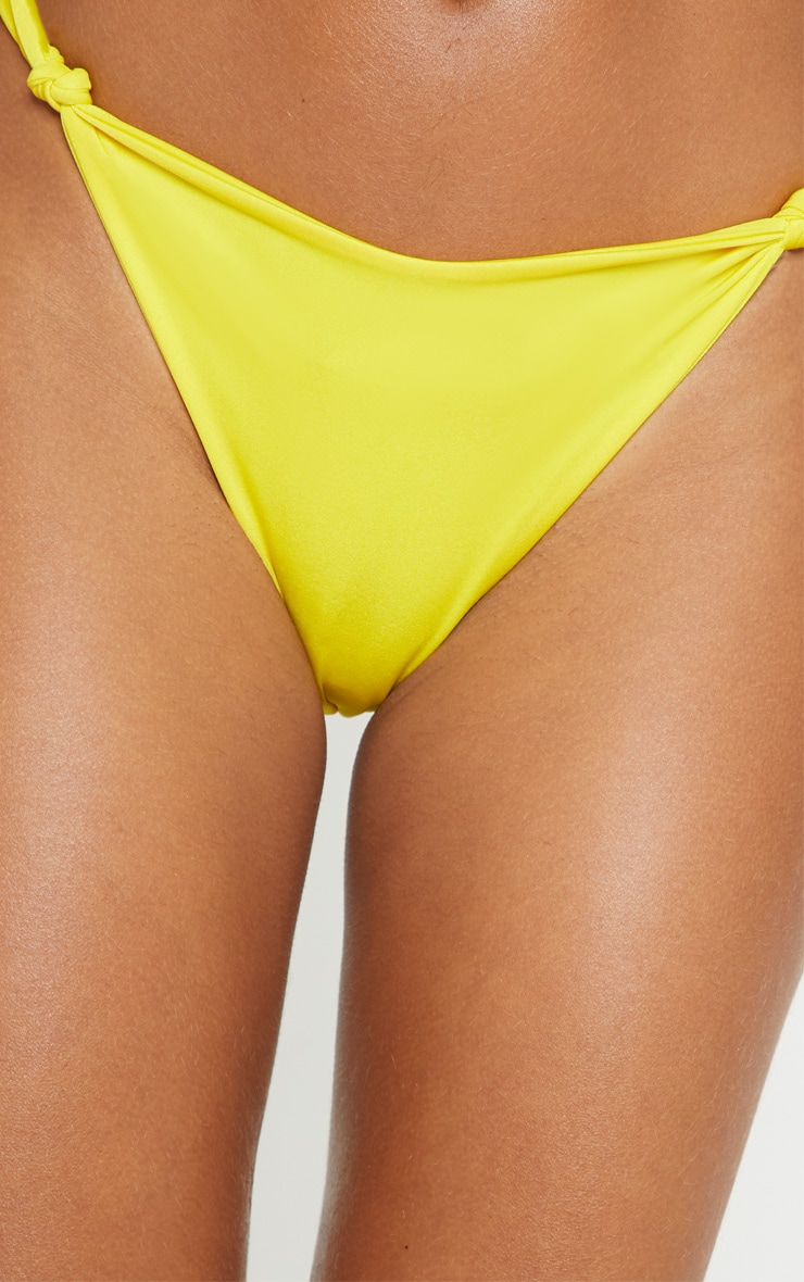 Yellow Knot Front Bikini Bottom 6