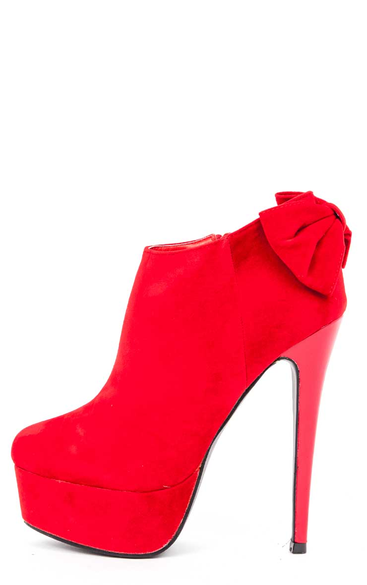 Marcela Red Bow Shoe Boots  1