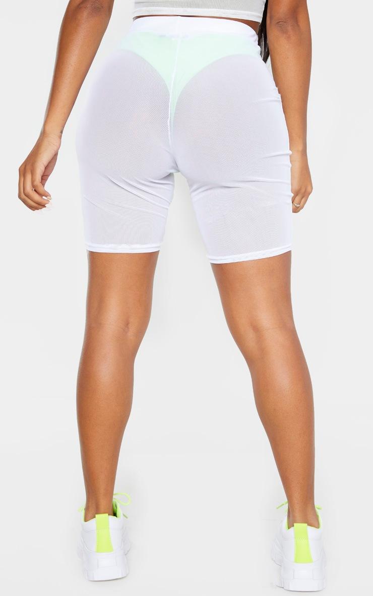Shape White Mesh Cycling Short 4