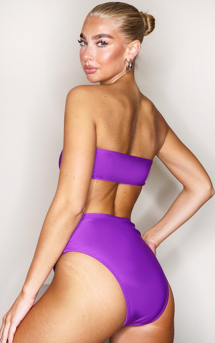 Purple Mix & Match High Waist Bikini Bottoms 2
