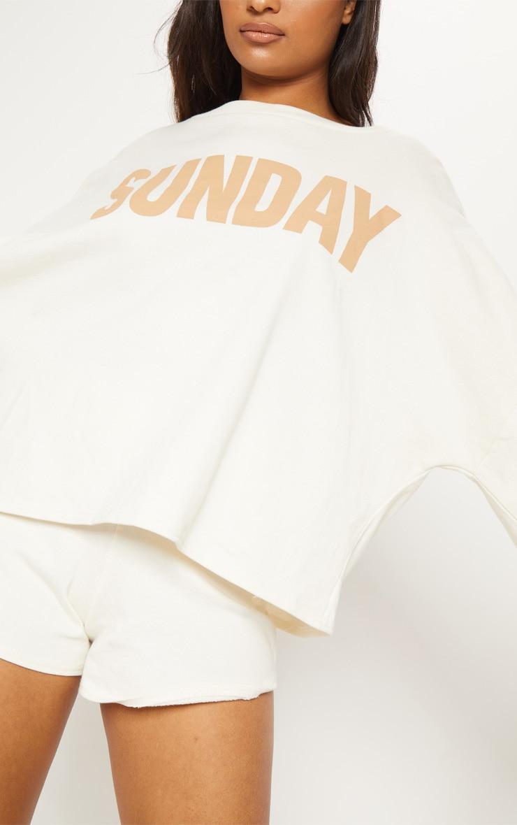 Sand Sunday Slogan Off Shoulder Sweater 6