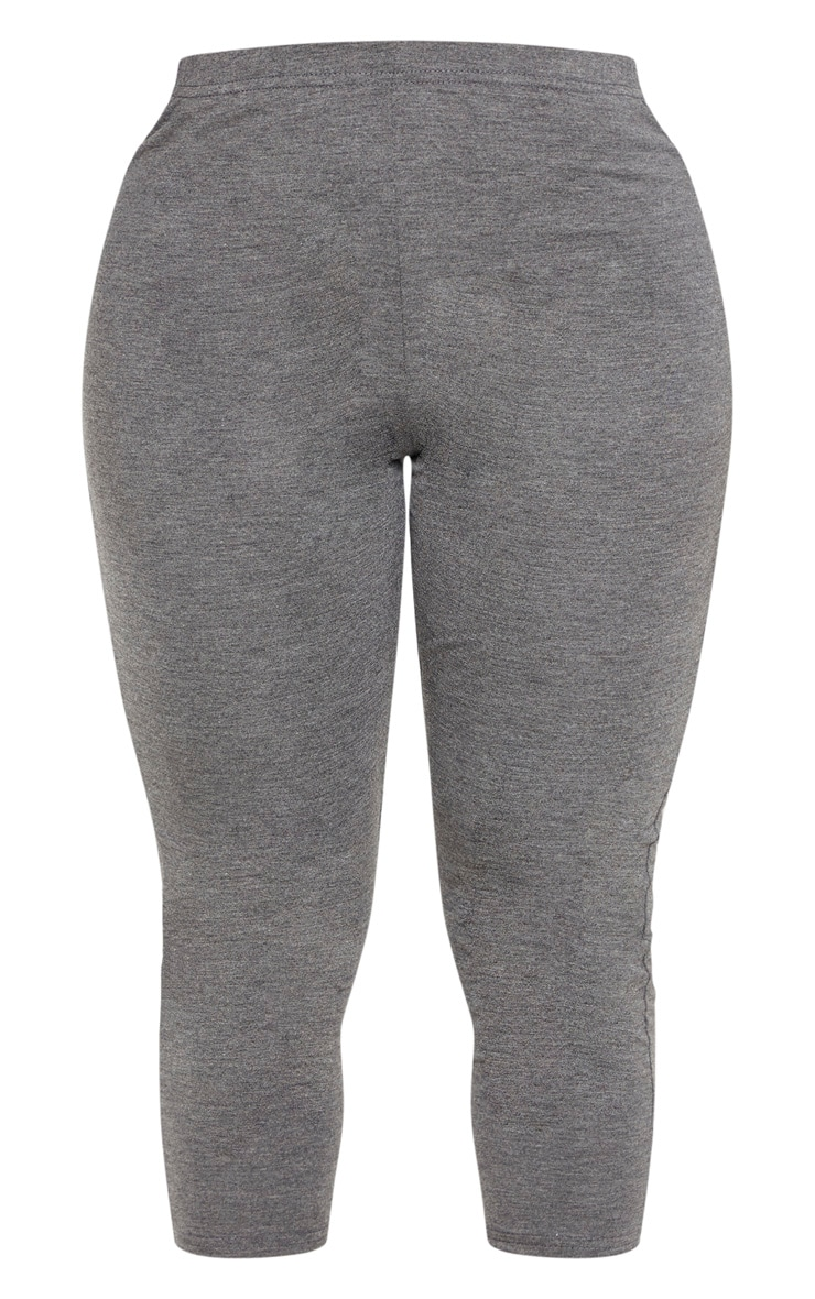 Shape Charcoal Jersey Cropped Leggings 3