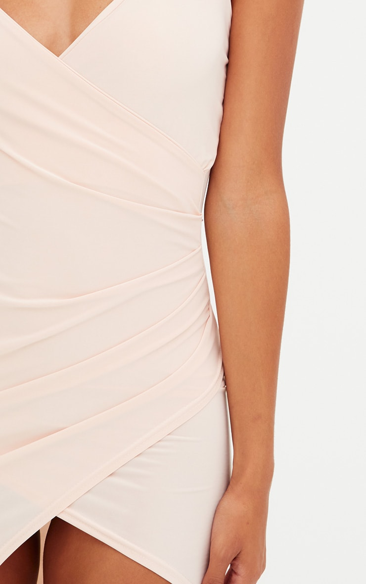 Petite Nude Slinky Wrap Dress 4
