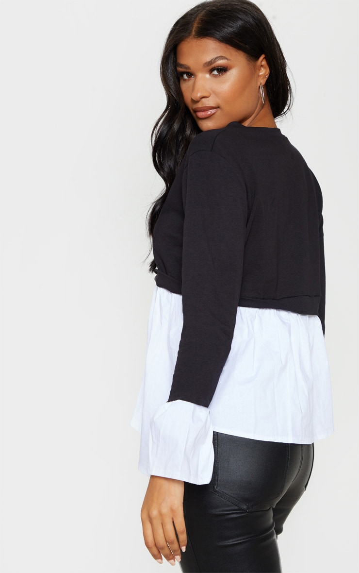 Black Peplum Sweater 2