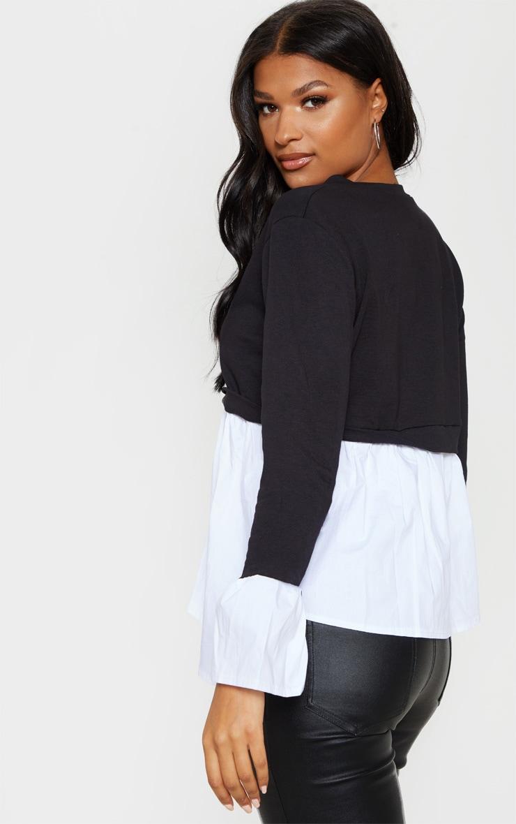 Black Peplum Sweatshirt 2